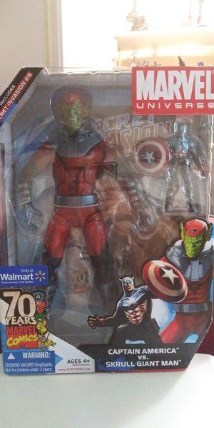 Marvel legends universe captain america vs. Skrull giant man for Sale in Montebello, CA