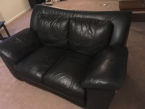 Black Faux Leather Couch for Sale in Washington, DC