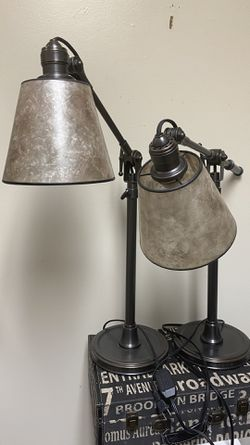 Adjustable glass industrial style lamps very nice for Sale in Dublin,  OH