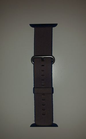 Apple Brand 42mm Nylon Woven Blue Apple Watch Band for Sale in Chicago, IL
