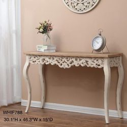 Brand New 47 in. Brown/White Standard Rectangle Wood Console Table for Sale in City of Industry,  CA