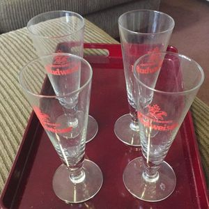Vintage Budweiser Glasses for Sale in Wilbraham, MA