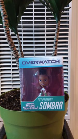 Limited Edition Overwatch Winter Wonderland Peppermint Sombra Collectible Doll toy Over Size head for Sale in Long Beach, CA