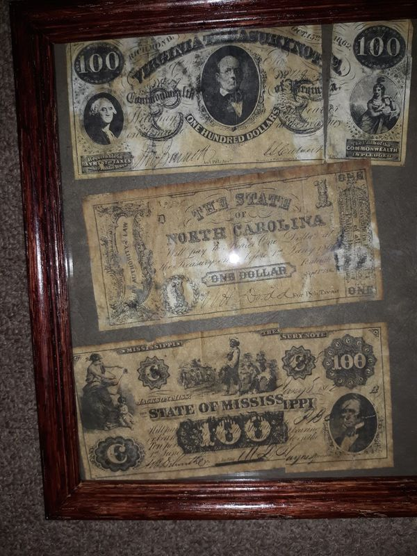 Counterfeit 1860'S Confederate paper money