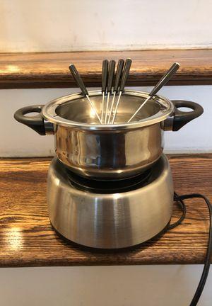 Electric Fondue Set. Six forks. for Sale in Rockville, MD