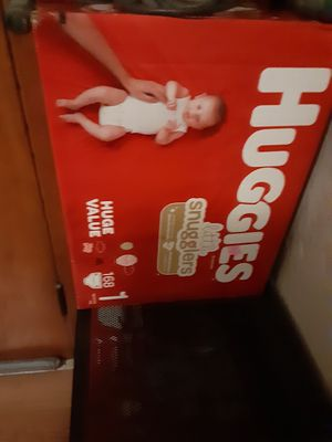 Huggies little snugglers (size 1) 168 count for Sale in Pittsburgh, PA