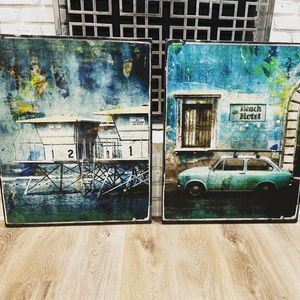 "Pair Of ""Z Gallerie"" Canvas Prints for Sale in Dallas, TX"