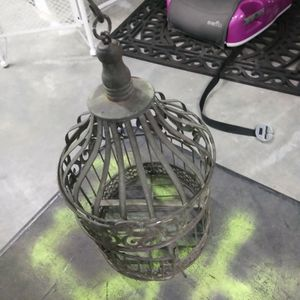 "Small Metal Hanging Bird Cage Approximately 13""l for Sale in Riverdale Park, MD"