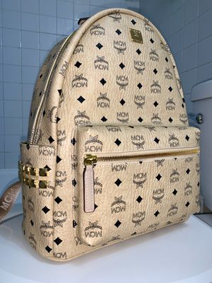 MCM Backpack - Beige - Size: 37cm - Shipping ONLY for Sale in Miami, FL