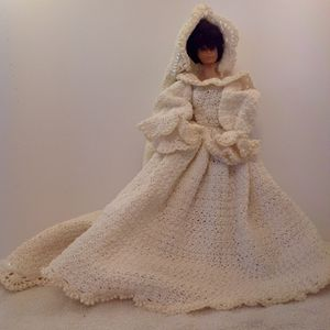 Hand Crocheted Barbie Wedding Dress for Sale in Albuquerque, NM