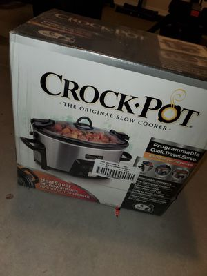 Crock-Pot 6.0-Quart Heat-Saver Cook & Carry Slow Cooker, Programmable, Stainless Steel for Sale in Buckeye, AZ