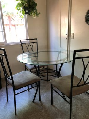 Free glass table and chairs for Sale in San Jose, CA