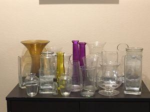 Glass Flower Vase, assorted vases for Sale in Goodyear, AZ