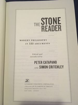 The Stone Reader:Modern Philosophy in 133 Arguments for Sale in South Gate, CA