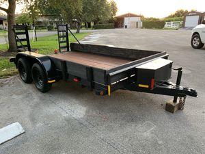 utility trailer 7x12 double axle 👍 for Sale in Pembroke Pines, FL