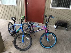 Size 20 kids bikes 100$ for both make an offer sold as a pair for Sale in Evergreen, CO