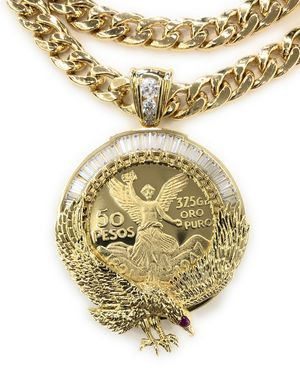 Gold Plated Eagle Centenario with chain for Sale in Chicago, IL