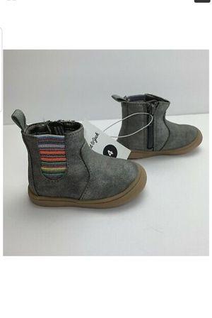 Toddler Girls Vanette Dress Boot - Pewter Silver Multi - Zipper - Cat & Jack - 4 for Sale in Louisville, KY