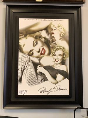 Marilyn Monroe Picture Frame for Sale in Murrieta, CA