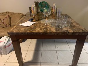 Marble table with chair for Sale in Ocean Ridge, FL