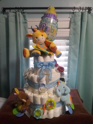 BIG Baby Boy Diaper Cake!!! for Sale in Belleville, MI