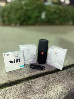 BRAND NEW JBL FLIP 5 x2 GOOGLE CHROMECAST x1 TILE STICKER SET for Sale in Lakewood, WA
