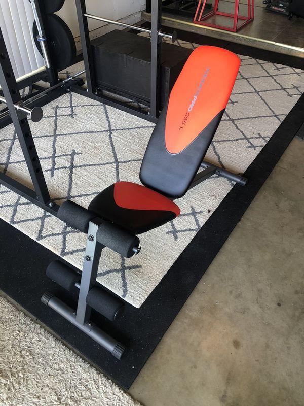 Adjustable Weight Bench - WeiderPro 255L