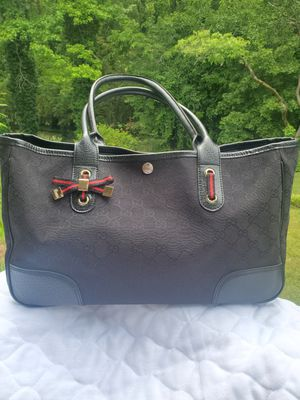 "Black Gucci ""Sherry Bow"" Canvas Tote for Sale in Peachtree Corners, GA"