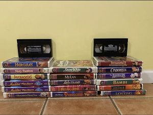 Lot Of 19 Disney VHS Tape Bundle for Sale in Port Jefferson Station, NY