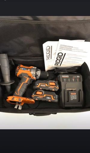 RIDGID 18v BRUSHLESS DRILL/DRIVER WITH 2 battery and charger included for Sale in Port Orange, FL