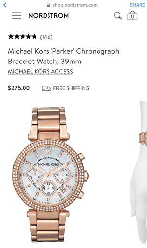 Michael's Kors Parker Chronograph Rose Gold Bracelet Watch for Sale in San Leandro, CA