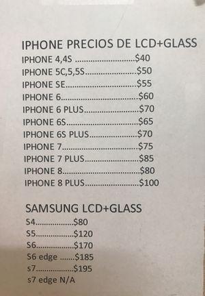 ARREGLO DE PANTALLAS DESBLOQUEO DE TELEFONOS DE TODAS LAS COMPAÑIAS for Sale in Hialeah, FL