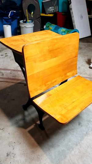 Vintsge school desk - A. Flanagan Co. Chicago for Sale in Posen, IL