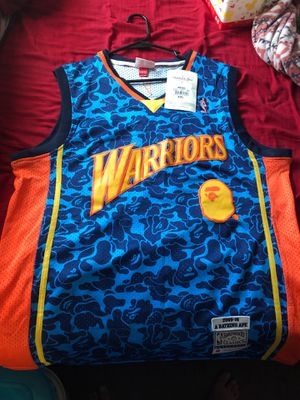 Warriors Bape edition jersey brand new size 2x runs slimmer though for Sale in DeBary, FL
