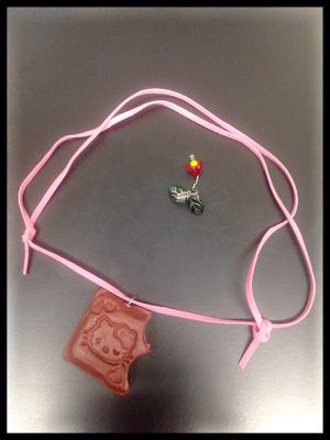 New Handmade Hello Kitty Clay Charm with Pink Cord for Sale in San Francisco, CA