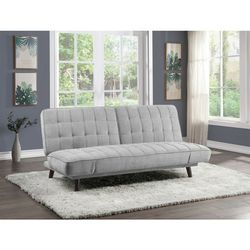 Online Price ‼️🎊🎉 Silver gray Futon & Click-Clacks • (Sofa/Sleeper) • Delivery • Assembly • FREE 🔥 Financing ‼️Same as cash for Sale in Henderson,  NV