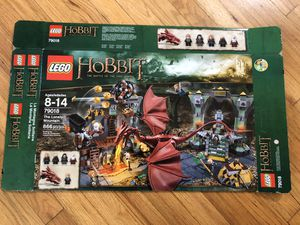 Lego lotr Lord of the Rings Hobbit Smaug Lonely Mountain box for Sale in Los Angeles, CA