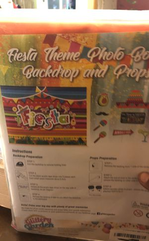 Fiesta theme photo booth backdrop and props for Sale in Anaheim, CA