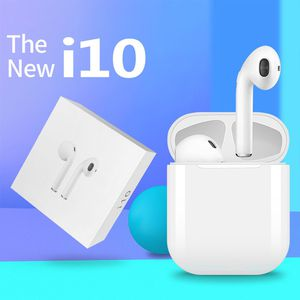 i10 TWS Bluetooth V5.0 Touch Binaural Earbuds Stereo In-ear Earphone With Charging base- WHITE for Sale in Los Angeles, CA