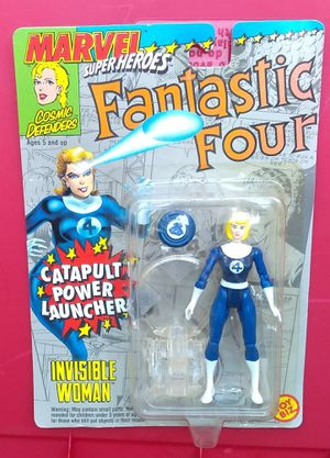Marvel Super Heroes Fantastic Four Invisible Woman Action Figure MOC MIP ToyBiz 1994 Vintage Collectible for Sale in Pasadena, CA