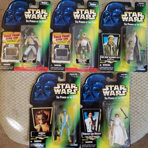 5 - Star Wars - The Power of The Force - Green Card (Various) - 3 3/4 Action Figure Collection for Sale in Oakdale, CA