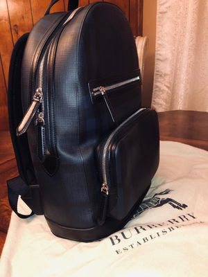 Burberry Men's Blue London Check Backpack Navy/black for Sale in Downey, CA