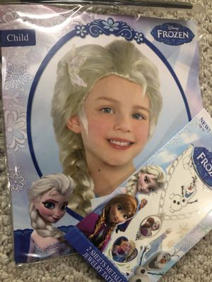 Frozen wig and necklace tattoo for Sale in Germantown, MD