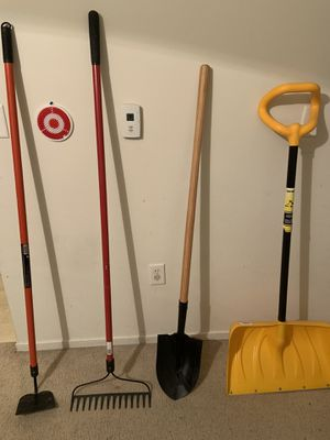 Brand New Garden Rake Hoe Shovel and Snow Shovel for Sale in Peoria, IL