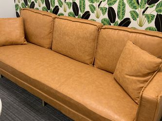 Leather Beige Couch for Sale in El Segundo,  CA