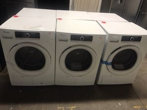 Brand new open box Whirlpool white apartment size washer and dryer !! We deliver! Warranty!! for Sale in Philadelphia, PA