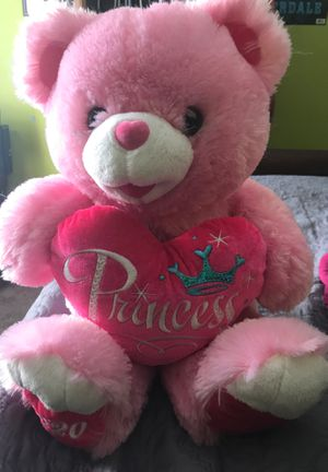 Pink princess teddy bear for Sale in Raleigh, NC