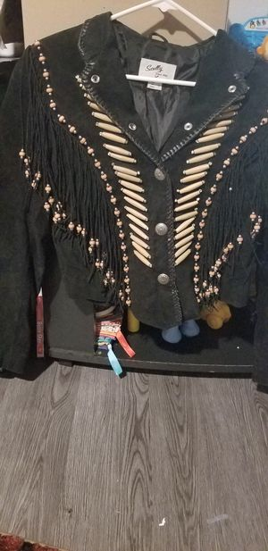Scully Black Jacket with Fringe for Sale in Fort Worth, TX