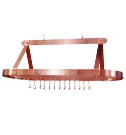 Satin copper pot rack 48x18 for Sale in Las Vegas,  NV