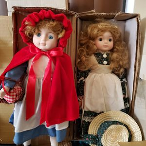 New Little Red Riding Hood Porcelain Doll/ Little Bo Peep for Sale in West Palm Beach, FL